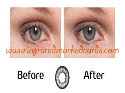 Lentilles de contact infrarouges pour Hazel Eyes